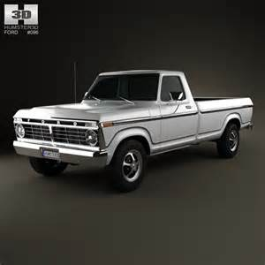 Ford F150 Models Ford F 150 1973 3d Model Humster3d