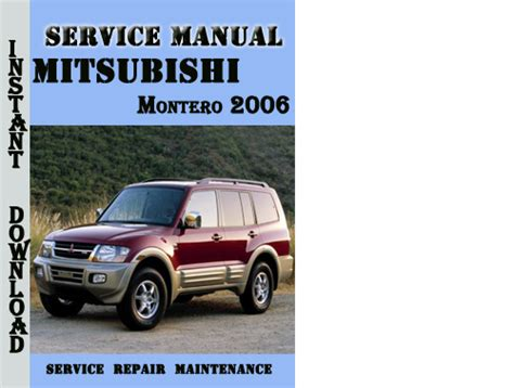 car owners manuals free downloads 2006 mitsubishi montero parking system mitsubishi montero 2006 service repair manual pdf download downlo