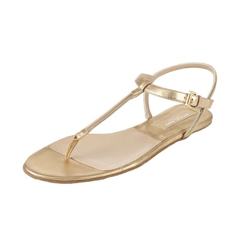 michael kors gold flat shoes michael kors tstrap metallic flat sandal in beige gold