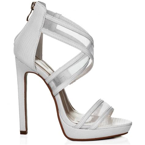 white high heel shoes edison platform mesh high heel stiletto sandals shoes