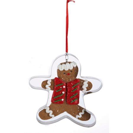 gingerbread ornament out of brown paper kurt adler 4 quot gingerbread kisses cookie cut out ornament brown walmart