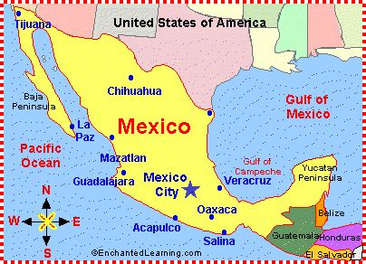 map of the country of mexico mexico map zoomschool