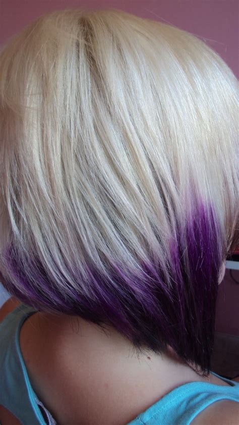 hairstyles blonde ends blonde w purple ends hair pinterest i love love