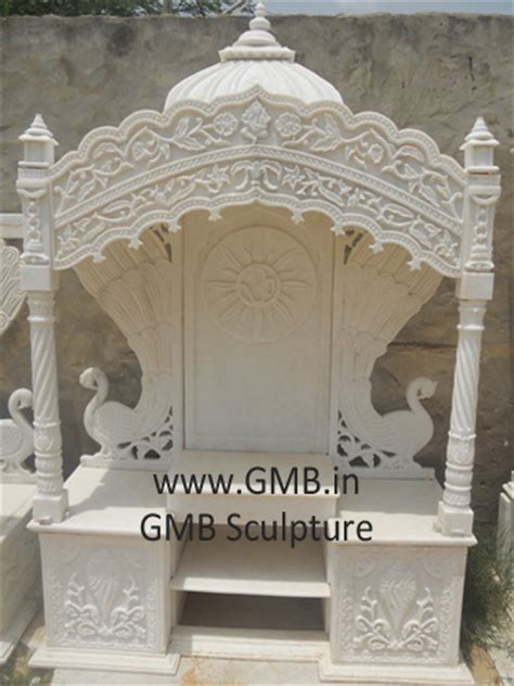 white marble pooja mandir for home
