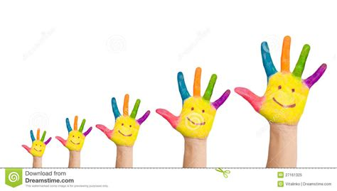 afte alimentazione five colorful with smile royalty free stock photo