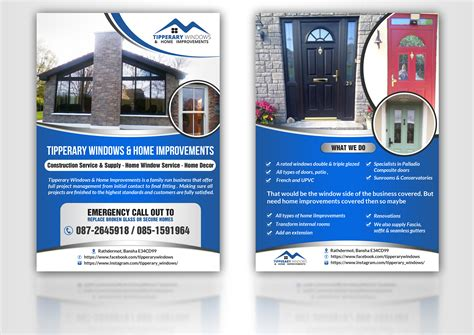 flyer design software for windows flyer design for tipperary windows home improvements by