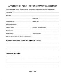 next of kin form template application form exles