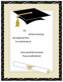 graduation card template 40 free graduation invitation templates template lab