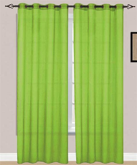lime green window treatments beatrice sheer voile 8 grommets window panel lime green