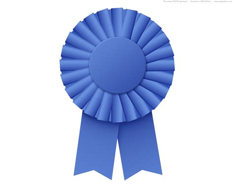 blue ribbon rosette psd psdgraphics