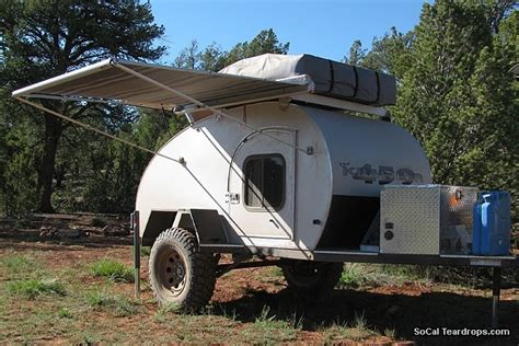 teardrop trailer awning so cal teardrops options options side awning