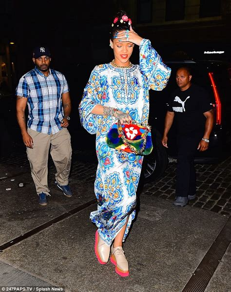 Casey Kaftan By Wearing Klamby rihanna wears bright kaftan dress for new york outing