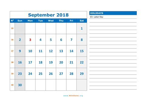 printable monthly calendar in word september 2018 calendar word 2018 calendar with holidays