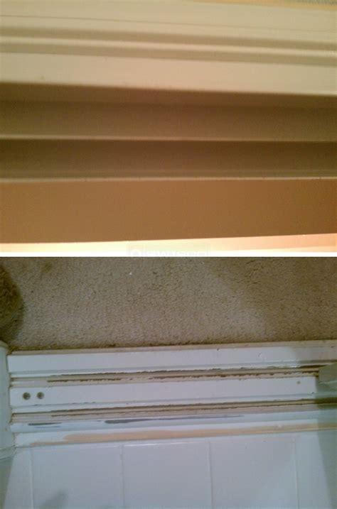 Stanley Closet Door Track by Bottom Mirror Closet Door Track Swisco