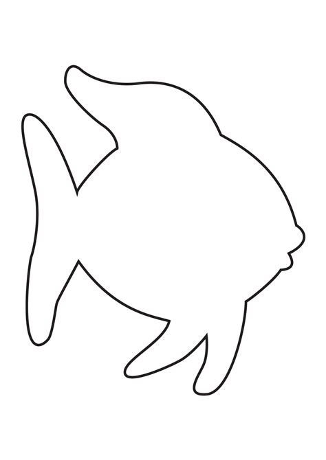 fish template rainbow fish template the sea rainbow fish
