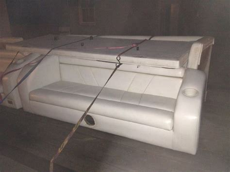 how to recover boat seats cheap sand m e s 1990 lowe 24ft rebuild done pontoon forum