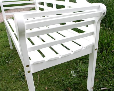 lutyens bench lutyens acacia hardwood 2 seater bench painted white finish 163 119 99 garden4less