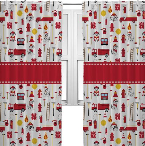 fireman curtains firefighter curtains 2 panels per set personalized