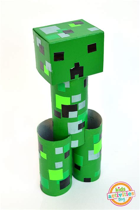 paper craft for minecraft toilet roll creeper minecraft crafts activities