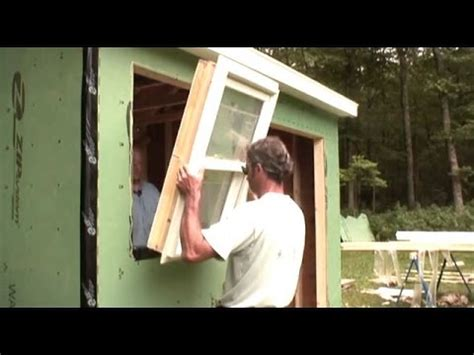 Putting Old Doors To Good Use Installing A Windows Amp Door Shed Youtube