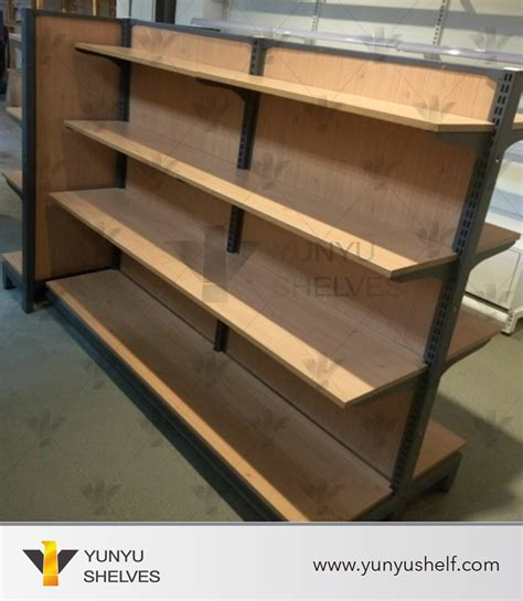 Packing Kayu By Qu Store shopping new convenience wood gondola shelving unit