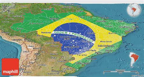 satellite map of brazil flag panoramic map of brazil satellite outside