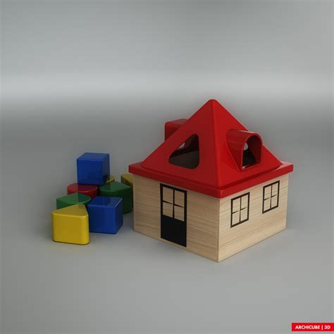 toy house toy house 3d model max obj fbx cgtrader com
