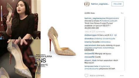 Harga Jam Tangan Merk Laurent Adelon mengintip sepatu sepatu berharga fantastis milik nagita