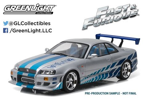 blue nissan skyline fast and furious greenlight collectibles made 2 fast 2 furious car