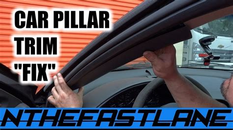 car ceiling upholstery falling interior pillar trim loose falls down fix quot how to