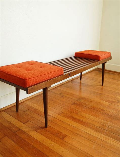 diy nelson bench george nelson inspired mid century modern slatted bench