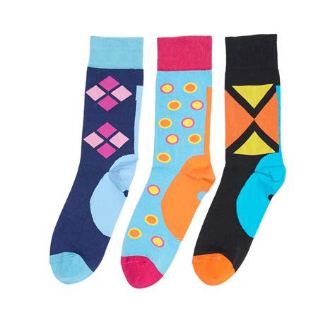 blue pattern socks blacksocks funky socks blue pattern pack of 3 us