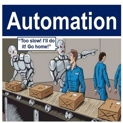 automation robots replacing humans definition and