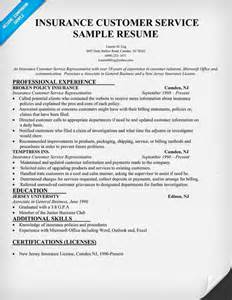 free sle resume for customer service representative insurance customer service resume resume 28 images