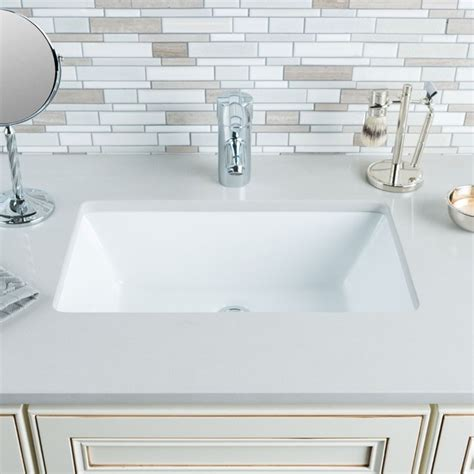 rectangular undermount bathroom sinks hahn ceramic medium rectangular bowl undermount white