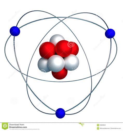 proton neutron elektron atomic structure with proton neutron and electron