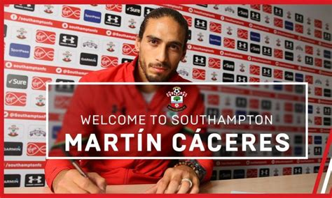 firma caceres 2016 gemeliers southton ufficiale ecco caceres mercato