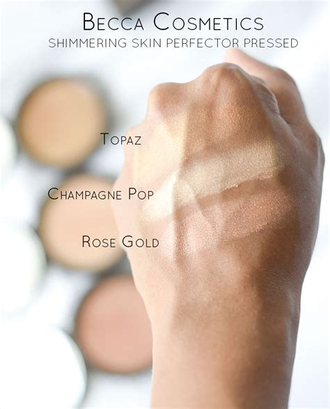 Becca Shimmering Skin Protector Pressed Powder Chagne Pop becca shimmering skin perfector pressed gold swatch