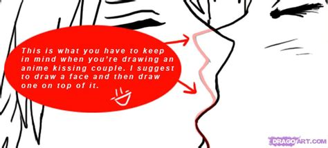 how to draw people kissing step by step anime people