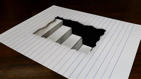 Drawing Paper by How To Draw 3d Drawings On Paper Step By Step Easy
