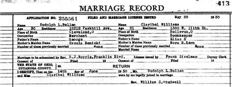 Record For Most Marriages Bellan Family Documents The Spiraling Chains Kowalski Bellan