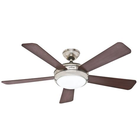 ceiling fan lights shop palermo 52 in brushed nickel downrod or flush