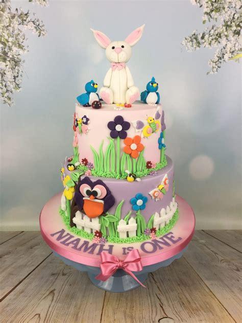st birthday cake  bunny topper mels amazing cakes