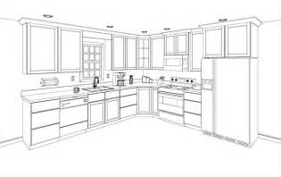 How To Layout A Kitchen Design Simple Kitchen Drawing New Home Decorating Ideas