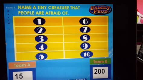 Family Feud Game Template Powerpoint Free Professional Family Fued Power Point