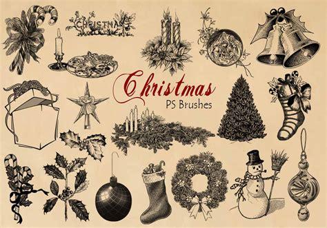 engraved christmas ps brushes abrvol  photoshop brushes  brusheezy