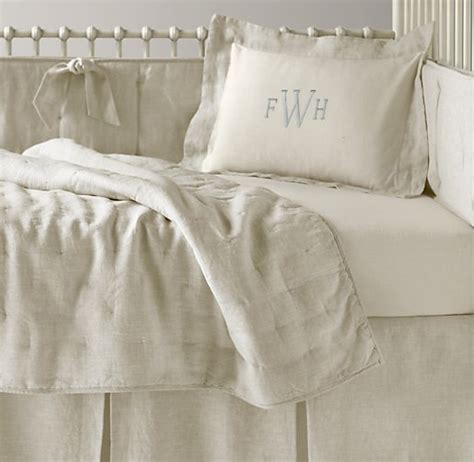 restoration hardware baby bedding washed organic linen nursery bedding collection