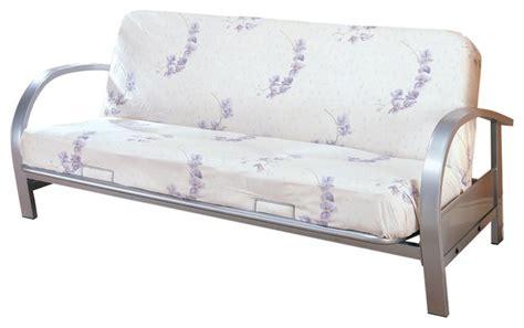 silver futon frame silver futon frame 6446