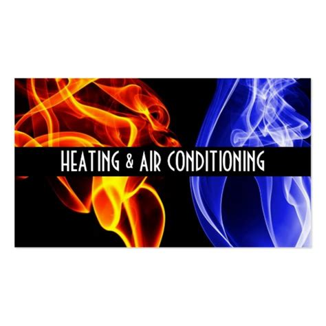 heating and cooling business card templates hvac business card templates bizcardstudio