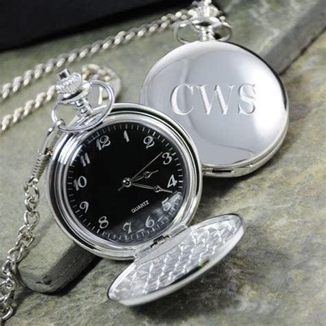 engraved silver plated pocket